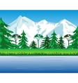 High mountains and riverside vector image vector image