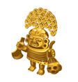 inca indian ritual figurine from gold a symbol of vector image