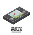 isometric old gadget flat vector image
