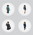 isometric person set of investor officer vector image vector image