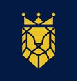 king lion logo vector image