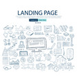 landing page concept with business doodle design vector image vector image