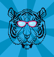 Line Art Tiger vector image