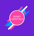merry christmas geometric elements text in a vector image vector image