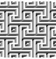 monochrome geometric maze seamless pattern vector image