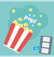 movie popcorn vector image vector image