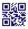 new technology barcode qr code classic qr vector image