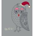original ornamental christmas owl concept winter vector image