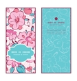 pink blue kimono flowers vertical frame vector image