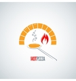 pizza oven hot background vector image