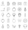 regimen icons set outline style vector image vector image