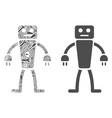 robot mosaic of service tools vector image