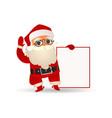 santa claus holding blank vector image vector image
