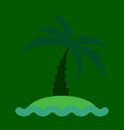 sea view from the beach palm tree on shore vector image vector image