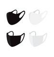 set black and white face masks surgery masks vector image