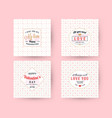 set happy valentines day typography greeting vector image vector image