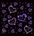 shining hearts retro neon sign heart vector image vector image