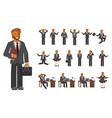 smart businessman character vector image