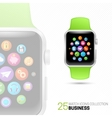 Smart watch with green wristband vector image vector image