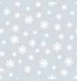 snow silver christmas seamless pattern vector image vector image