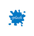 Splash water blue graphic design template