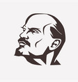 stylized portrait of vladimir lenin leader vector image