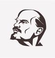 stylized portrait vladimir lenin leader of vector image