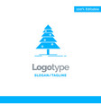tree forest christmas xmas blue solid logo vector image vector image