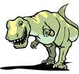 Tyrannosaurus Rex Smile vector image