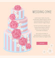 wedding cake shop now webpage vector image vector image