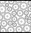 white background with monochrome pattern of daisy vector image vector image