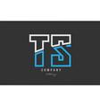 white blue alphabet letter ts t s logo icon design vector image vector image