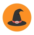 Witch hat flat icon vector image
