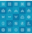 Drone or quadcopter icons set vector image