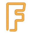 letter f bread icon cartoon style vector image