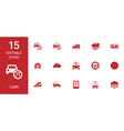 15 car icons vector image vector image