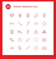 25 healthcare icons vector image vector image