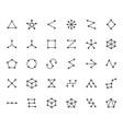 abstract geometrical flat icons set circles vector image