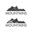 abstract logo template mountains and tree vector image vector image
