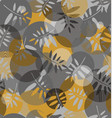 abstract texture of spirals and leaf silhouette vector image vector image