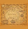 antique map australia and new zealand islands