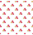 apples pattern seamless vector image vector image
