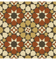 Arabesque seamless pattern in orange and brown vector image vector image
