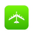 armed fighter jet icon digital green vector image vector image
