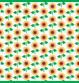 background pattern with sunflower vector image