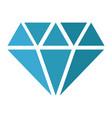 blue diamond icon design vector image vector image