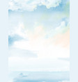 blue sky cloudy and sea abstract design vector image