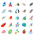 business career icons set isometric style vector image vector image