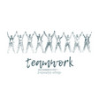 business concept people hand a togetherness vector image vector image