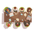 business meeting top view concept vector image vector image